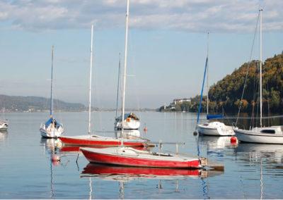 herbst-see-segelboote